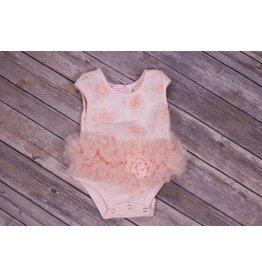 Popatu Peach Flower Bodysuit
