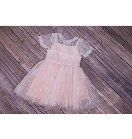 Popatu Light Peach Lace Dress