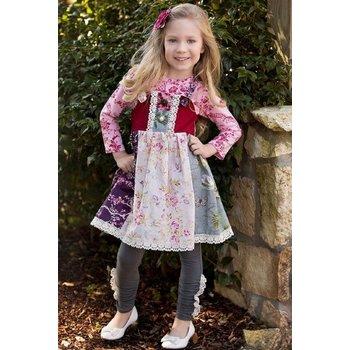 Haute Baby Sadie Rose Jumper Dress with Shirt