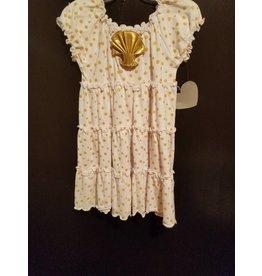 Mulberry Bush Gold Polka Dot Shell Dress