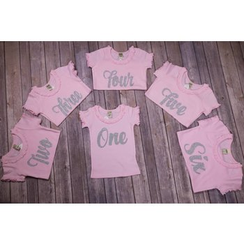 """Jujubee Bowtique Pink & Silver """"Yearly Birthday"""" Shirt"""