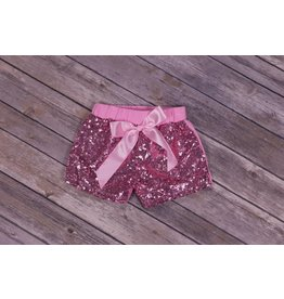 Jujubee Bowtique Pink Sequin Shorts