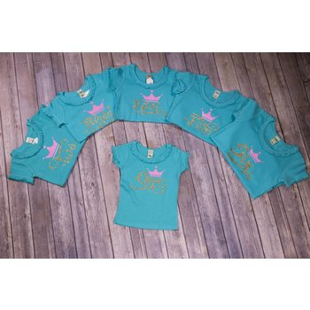 "Royal & Rose Teal & Gold ""Yearly Birthday"" Shirts"