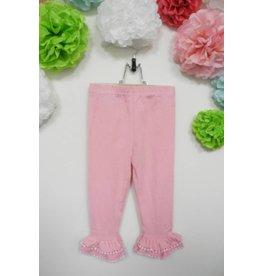 Calla Lily Pink Ruffle Pants