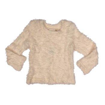 MLKids Ivory Fuzzy Sweater