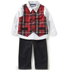 Matt's Scooter Button Up Top with Vest and Dress Pant