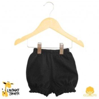 Laughing Giraffe Black Ruffle Shorts Monogram