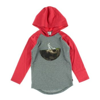 Blanc De Blanc Space Graphic Raglan Top With Hood