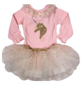 Calla Lily Pink and Gold Unicorn Top