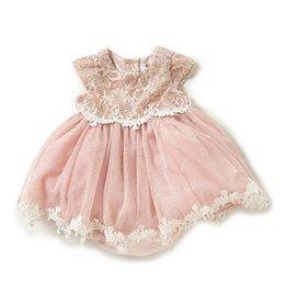 Rare Editions Blush Sparkle Lace Dress