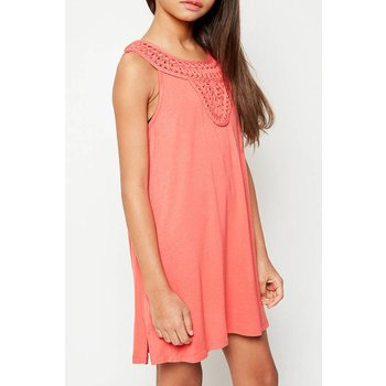 Hayden Coral Rayon Shift Dress