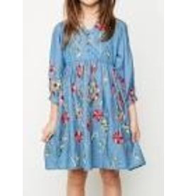 Hayden Embroidered Floral Dress