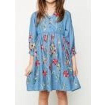 Hayden Embroidered Floral Dress