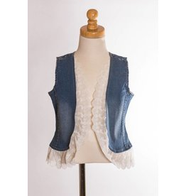 MLKids Jean and Lace Vest Tween
