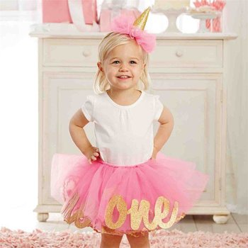 "Mud Pie Glitter ""1"" TuTu Set"