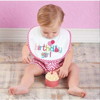 Mud Pie Birthday Girl Bib