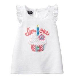 Mud Pie I'm One Birthday Cupcake Shirt