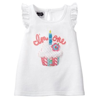 Mud Pie I'm One Birthday Cupcake Shirt