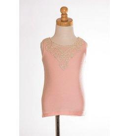 MLKids Pink Crocheted Detail Tank Tween