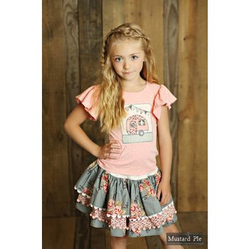 Mustard Pie Sugar Blossom Penelope Skirt Tween
