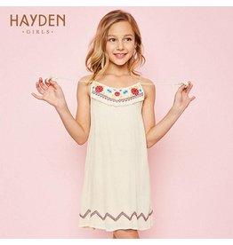 Hayden Ivory Embroidered Tank Dress