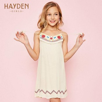 Hayden Ivory Embroidered Tank Dress