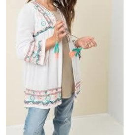 Colorful Embroidered Cardigan