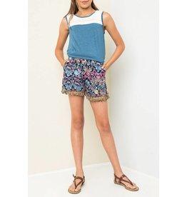 Hayden Blue Floral Tassel Shorts
