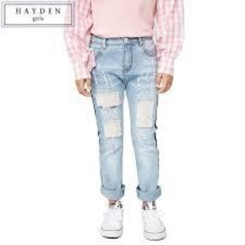 Hayden Distressed Patch Work Jeans