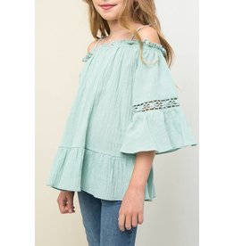 Hayden Seafoam Off The Shoulder Tunic