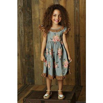 Mustard Pie Sugar Blossm Bella Dress tween