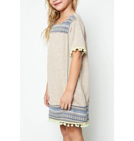 Hayden Pom Pom Shift Dress