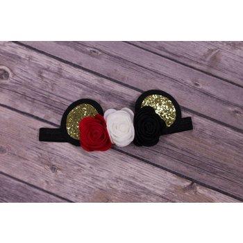 My Little Lady Bug Felt Minnie Mouse Inspired Headband