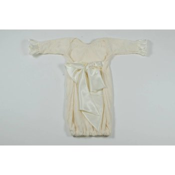 Cuddle Couture Satin Bow Gown Cream