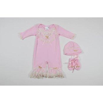 Kitty Girls Tulle & Dye Co Premie Pink Jumper Take Me Home Set