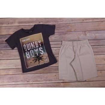 Quimby Surf Crew T-Shirt And Short Set
