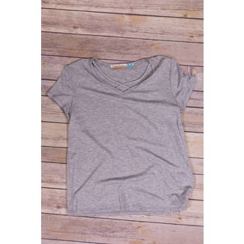 Vintage Havana Ultra Soft Grey Strappy T Shirt