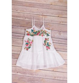 Mimi & Maggie White Sundress with Flowers