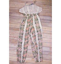 Truly Me Ivory Lace Floral Jumpsuit