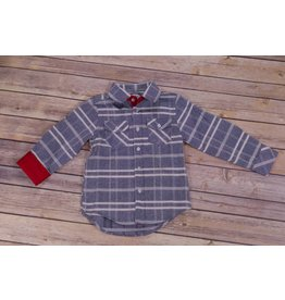 Frenchie Grey Plaid Button Up Shirt