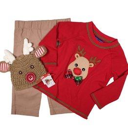 Matt's Scooter Reindeer Bowtie Top With Pants