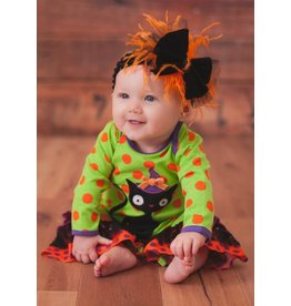 Peaches 'n Cream Long Sleeve Witchy Cat Romper