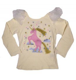 Calla Lily Ivory and Gold Tassel Unicorn Top