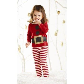 Mud Pie Glitter Santa Pajama