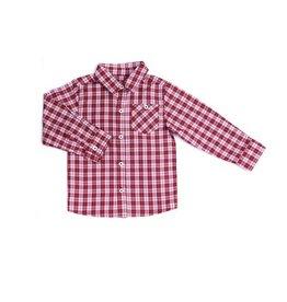 Kapital K Cranberry Plaid Button Down w/ Chest Pocket