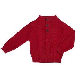 Kapital K Cherry Coke Melanged Cable Knit Sweater