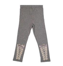 Mae Li Rose Grey Lace Up Leggings