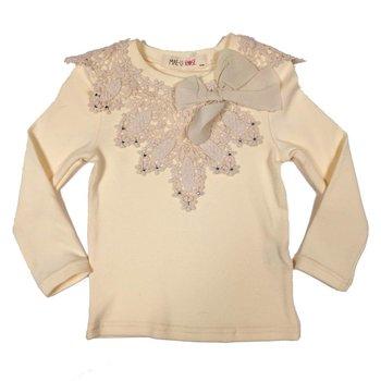Mae Li Rose Long Sleeve Pointed Crochet Top