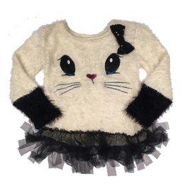 Calla Lily Fuzzy Cat Sweater