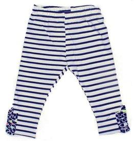 Blanc De Blanc Navy Striped Legging